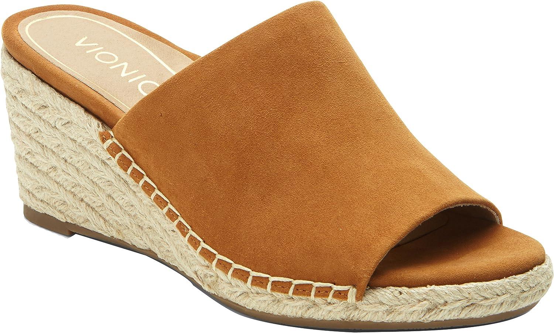 Vionic Tulum Kadyn - Womens Wedge Slip-on Sandal Caramel - 7.5 Wide