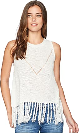 Loose Knit Fringe Top