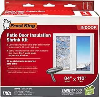 Frost King V76H Shrink Window Kit 84-Inch by 120-Inch, Clear