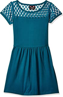 Smiling Bows Girls Lace And Knit Dress