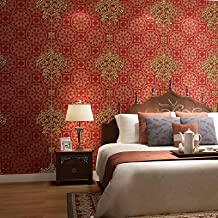 Special/Simple Bedroom Living Room Wallpaper 3D Stereo Background Wall Paper Sunny Color B (Color : Aurora Red a, Size : ...