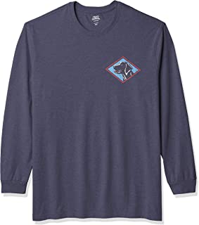 IZOD Men's Big & Tall Tall Saltwater Long Sleeve Graphic T-Shirt, Anchor Dog, 4X-Large Big