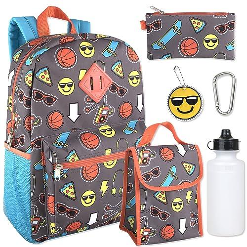 Boys 6 in 1 Backpack Set Including A Backpack, Lunch Bag, Pencil Case,