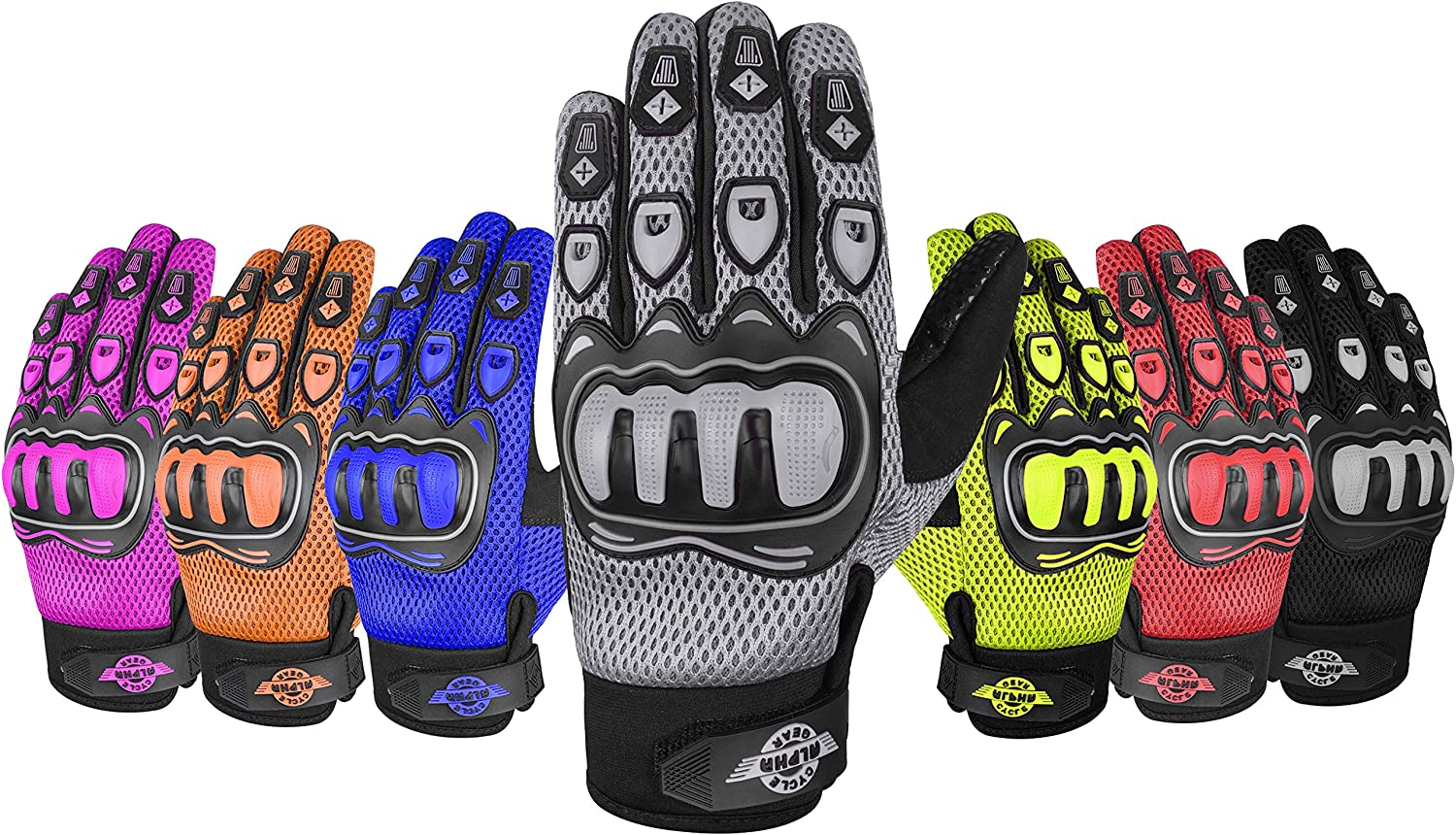 ALPHA CYCLE GEAR MOTO SPORTS GLOVES Challenge the Arlington Mall lowest price GRAY BLACK SMALL
