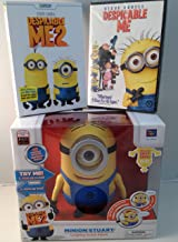 3-Item Bundle: Despicable Me 1 and 2 DVDs with Laughing Stuart Action Figure