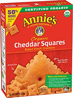 Annie's Organic Baked Snack Crackers Cheddar Squares, 11.25 oz