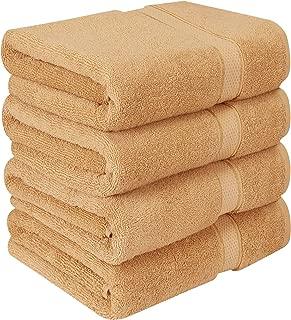 Utopia Towels Luxury Bath Towels, 4 Pack, 27x54, Hotel and Spa Towels, Beige