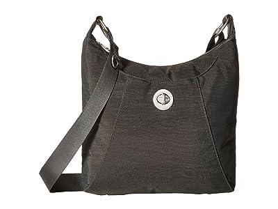 Baggallini Legacy RFID Small Zip Crossbody (Charcoal) Cross Body Handbags