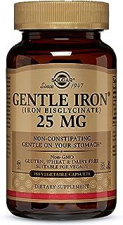 Solgar Hierro Gentle (Hierro bisglicinato) 20 mg Cápsulas vegetales - Envase de 180