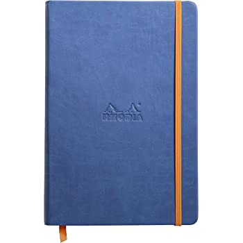 Rhodia Rhodiarama Webnotebook - Lined 96 sheets - 5 1/2 x 8 1/4 - Sapphire Cover
