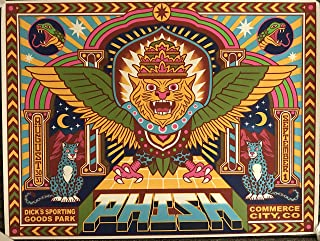 Phish concert poster denver 2019 dicks sporting goods park tour art limited edition new