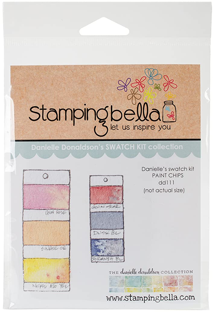 Stamping Bella DD111 Cling Stamps-Paint Chips
