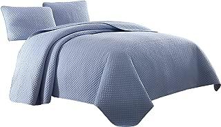 Cozy Beddings Elliott Quilt Set, King/Cal-King, Light Blue