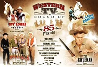 Western TV Round Up 85 TV Episodes Set - The Roy Rogers Shows, The Cisco Kid, Death Valley Days, The Adventures of Champion, Rat Mesterson, The Rifleman, The Lone Ranger, Bonanza