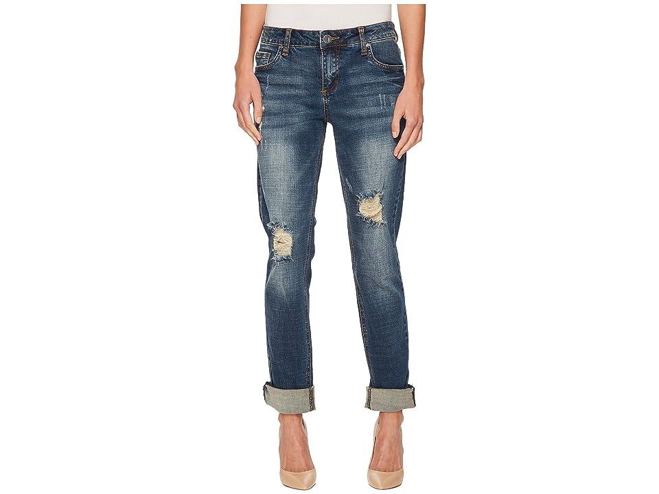 KUT from the Kloth Catherine Boyfriend Wide Cuff Jeans (Impressed/Dark Stone Base Wash) Women