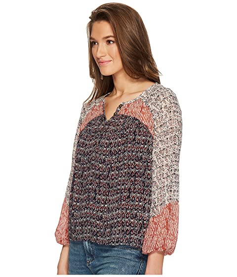 Peasant Mixed Print Top Brand Lucky a80xff
