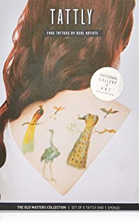 Tattly Temporary Tattoos Old Masters Painted Plumage Set