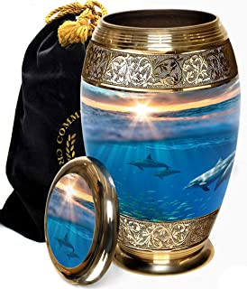 Dolphin Destiny Cremation Urns for Human Ashes Adult for Funeral, Burial, Columbarium or Home, Cremation Urns for Human As...