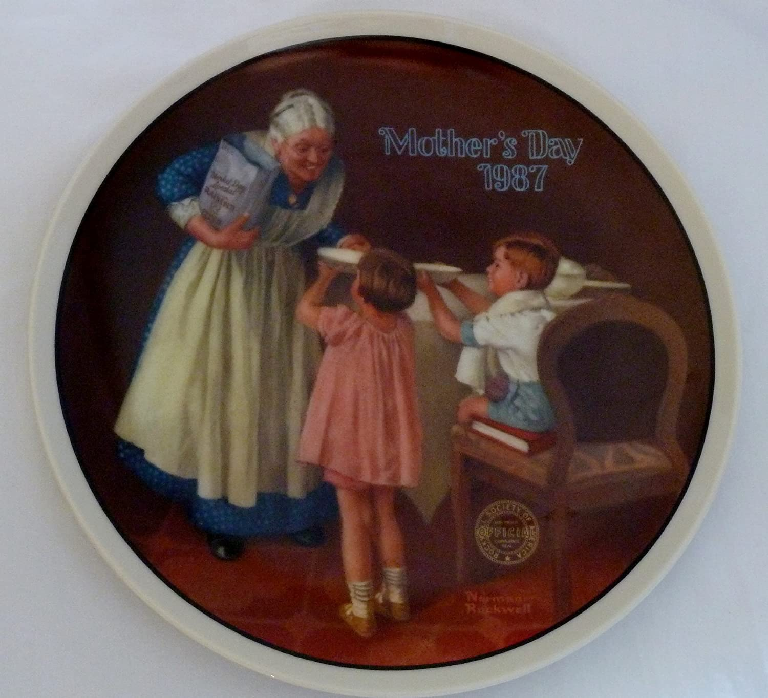 Excellent Grandma's Mail order Surprise Mother's Day 1987 Rockwell P Norman Collector