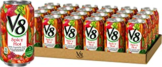 V8 Spicy Hot 100% Vegetable Juice, 11.5 oz. Can (Pack of 24)