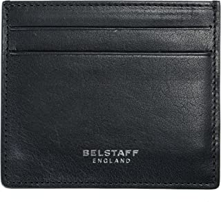 100% Leather Black Men's Card Case Wallet