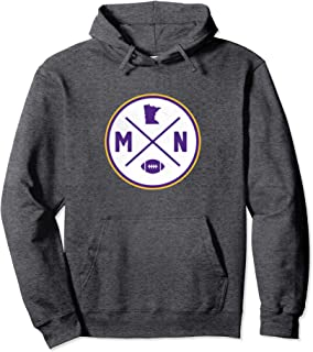 Minnesota Football MN State Outline Pullover Hoodie