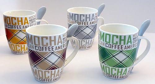 new arrival 8 Piece Ceramic Deluxe 12oz. Coffee/Tea Mug online Set popular - Mocha online sale