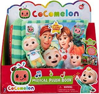 Cocomelon Nursery Rhyme Singing Time Plush Book, Featuring Tethered JJ Plush Character Toy, for JJ's Daily Musical Adventu...