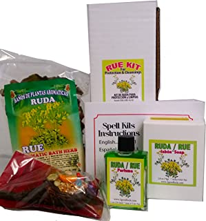 Rue Kit for Protection & Cleansing Rituals and Spells. Kit De Ruda