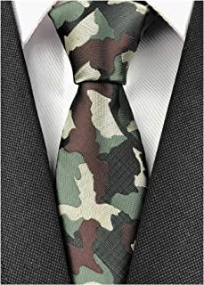 Slim Silk Necktie for Men Woven Jacquard Patterned Business Wedding Skinny Ties
