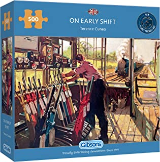 On Early Shift 500 Piece Jigsaw Puzzle   Sustainable Puzzle for Adults   Premium 100% Recycled Board   Great Gift for Adul...