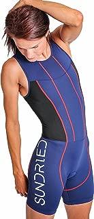 Womens Premium Padded Triathlon Tri Suit Compression Duathlon Running Swimming Cycling Skin Suit