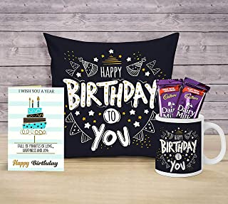 TIED RIBBONS Birthday Gifts Combo for Boyfriend Girlfriend Girls Boys Friend (Coffee Mug, Cushion Cover with Filler (12 X ...