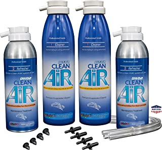 Clean Air Evaporator Coil Cleaner & Refresher - 2 Car Kit with Ball Bit Installation Hand Tool (Regular) Renew Your air Conditioner! (Treatment for 2 Vehicles)