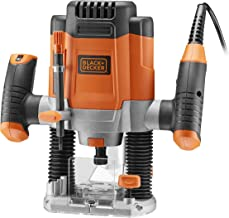 Black+Decker KW1200E 1200W bovenfrees, 28.000 1/min, max. vliezendiameter 38 mm (incl. 3 spantangen, parallelaanslag, cirk...