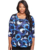 Karen Kane Plus - Plus Size Midnight Flower Tee