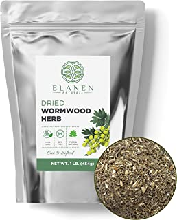 Wormwood Herb 16 oz. (1 lb. Bag), Contains Organic Wormwood Herb in non-BPA Packaging, Wormwood Tea, Worm Wood, Ajenjo Her...
