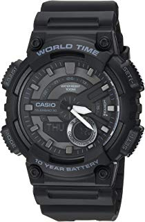 Casio Men's Sports Stainless Steel Quartz Watch with...
