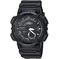 Casio Men's 'CLASSIC' Quartz Stainless Steel and Resin Casual Watch, Color:Black (Model:...