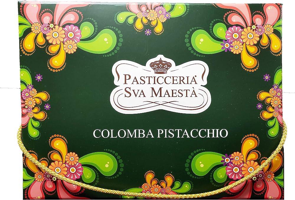 Colomba di pasqua artigianale siciliana ,1 kg,piu` barattolo di pistacchio da 200 gr