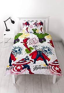 Edredón Individual de Marvel Avengers. Diseño con Estampado repetitivo.