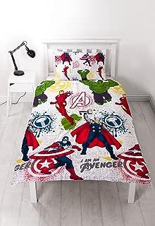 Marvel Avengers 'mission' Single Duvet Cover Set - Repeat Print Design