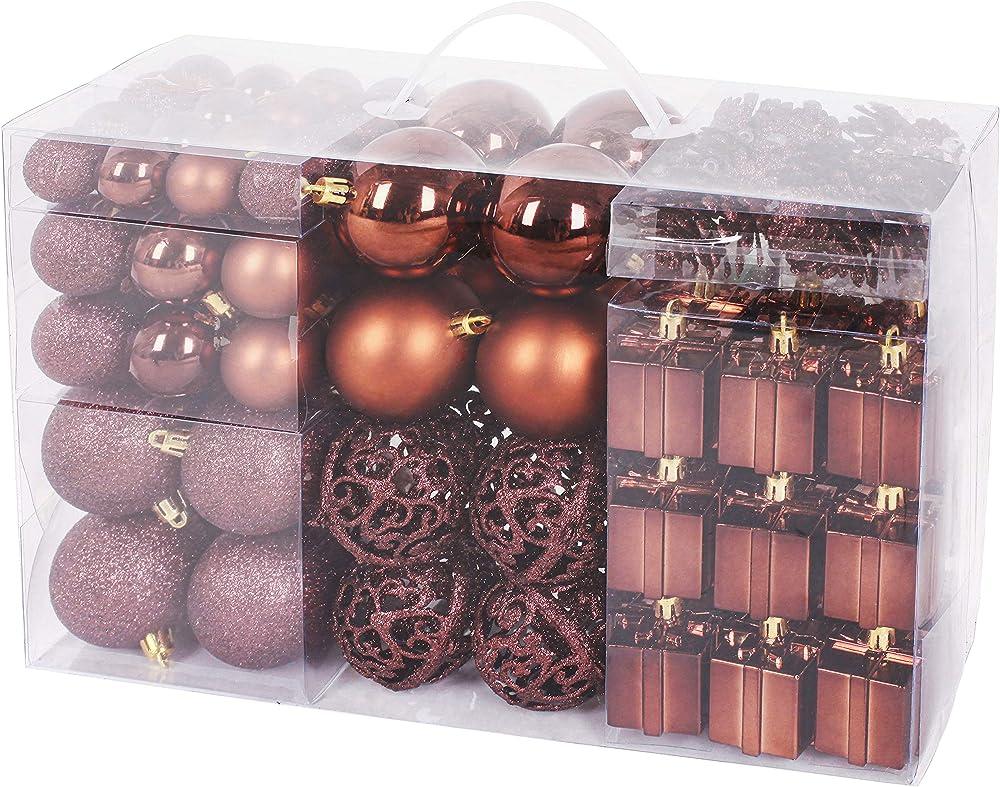 Brubaker set di 101 accessori decorativi per l`albero di natale