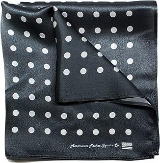 Silk Pocket Square by American Pocket Square Company | Classic Grey, Pure Silk, Premium Quality for Men:
