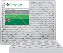 FilterBuy 14x30x1, Pleated HVAC AC Furnace Air Filter, MERV 8, AFB Silver, 4-Pack