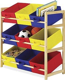 Whitmor - Organizador de libros para niños, 9 Organizador de ubicaciones, Multicolor/Ninguno, Almacenaje, 1
