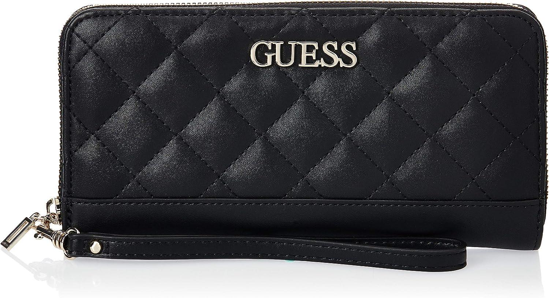 Guess Women's Illy Large Zip-Around Clutch Wallet Beige VG797046