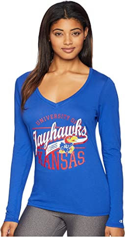Kansas Jayhawks Long Sleeve V-Neck Tee