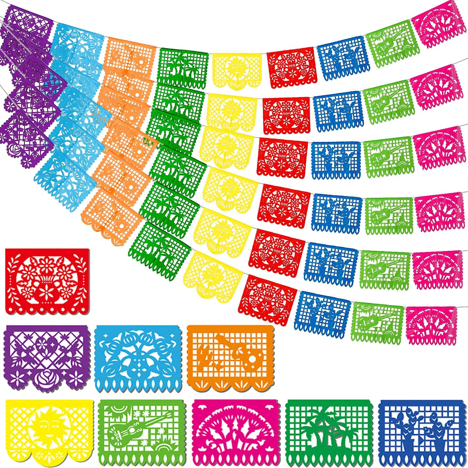 Boao Mexican Party Banners Fiesta Plastic Mue Dia Limited time cheap Challenge the lowest price of Japan sale De Los