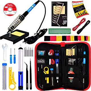 Soldering Iron Kit – Soldering Iron 60 W Adjustable Temperature, Solder Wire,..